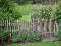homemade log and stick fence | Homemade fence at Kokopu by St. Croix, via Flickr | Farm & Yard