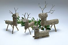 by Crystal Clifford on Etsy Primitive Christmas, Rustic Christmas, Country Style, Reindeer, Christmas Decorations, Place Card Holders, Crystals, Rabbit, Diy