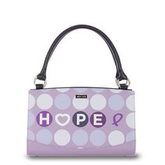 Miche Purple HOPE Purse! <3  Show your support for a great cause. A portion of every purchase of a Hope Shell goes directly to cancer research. Miche purses are great! You can change the whole look of the bag in less than a minute without having to move the contents inside your purse. <3