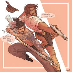Overwatch - Partners in Crime Overwatch Hanzo, Overwatch Comic, Overwatch Fan Art, Poses, Genji And Hanzo, Character Art, Character Design, Hanzo Shimada, Another A