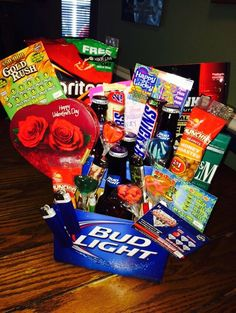 Lottery | DIY Fathers Day Gift Basket Ideas for Men | Easy Christmas Gifts for Men