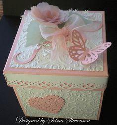 Selma Stamping Canto e Floral Designs: Explosão Box