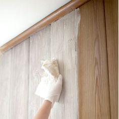 How to whitewash knotty pine walls...Wonder if this would work for the bedroom...