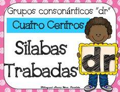 """NO PREP! Spanish Blends """"Dr""""  CCSS NO REQUIERE PREPARACION!  Este paquete incluye cuatro centros o estaciones  para las silabas trabadas o grupos consonnticos  """"dra, dre, dri, dro, dru"""" con hojas de registro para los estudiantes a diferentes niveles.CCSS:    RF.K.2.B RF.K.1.C , RF.2.3.D, RF.2.3.C, RF.2.3.F, RF.1.1 A, RF.1.2.A, RF.1.2.D,  RF.1.3.A, RF. 1.3, RF.1.3.DB, RF.1.3.D,  RF.1.3.G,  RF.1.4.B , RF.K.1.B, RF.K.2.B,RF.K.3.A, LK.2DCentros:1.- Tapetes de silabas trabadas para plastilina5…"""