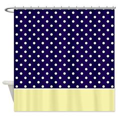 yellow and navy shower curtain. CafePress  Navy Blue Yellow w Dots Shower Curtain Decorative Fabric and Polka Multi Color