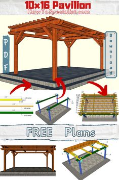 This step by step diy woodworking project is about free standing pergola plans. This rectangular wood pergola has a modern design and it is budget friendly, so you can save a ton on money by choosing to make this on your own. Wood Pergola, Backyard Pergola, Modern Pergola, Backyard Patio Designs, Pergola Designs, Pergola Ideas, Woodworking Projects Diy, Woodworking Plans, Wood Projects