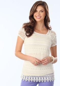 Tall Crochet Top for Women | Long Elegant Legs