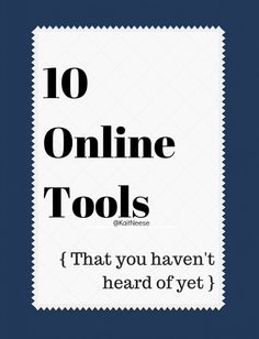 10 online tools for authors to check out via @KaitNeese .
