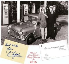 Nice Austin Cooper with Mr.Mini with Mr.Ferrari