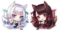 Anime Expo, Cute Chibi, Animal Ears, Cat Ears, Cute Girls, Animals, Ship, Art, Art Background