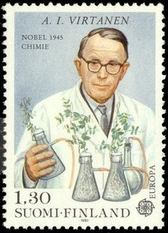 Postage stamp depicting Finnish Nobel-chemist A. History Of Finland, Nobel Prize In Chemistry, Mail Art, Stamp Collecting, Helsinki, Postage Stamps, Famous People, Literature, Thing 1