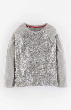 3632660aa21d Mini Boden Sequin Raglan Sleeve Tee (Toddler Girls, Little Girls & Big Girls )