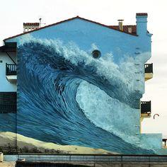 """Surf mural """"Hossegor"""""""