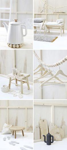 Scandinavian design / white and wood - inspiration déco mobilier design scandinave