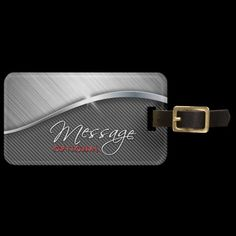 Travel in style with Metal luggage tags from Zazzle! Make your tags today! Custom Luggage Tags, Brushed Metal, Luggage Bags, Travel Style, Carbon Fiber, Belt, Luxury, Accessories, Personalised Luggage Tags