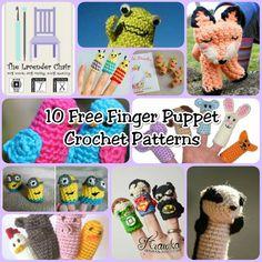 10 Free Crochet Finger Puppet Patterns