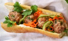 """Banh mi has been replacing Vietnamese """"pho"""" to be the most mentioned Vietnamese food worldwide. How did banh mi make food lovers madly fall in love with it? Vietnamese Sandwich, Vietnamese Recipes, Asian Recipes, Ethnic Recipes, Vietnamese Food, Sandwich Recipes, Snack Recipes, Ham Recipes, Pork"""