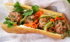 meatball banh mi 1024x620 Pork Meatball Bánh Mì