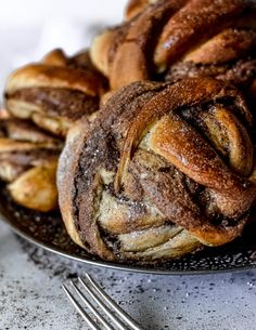 Cardamom Knots with Bourbon and Chocolate - The G & M Kitchen Cardamom Buns Recipe, Bun Recipe, Swedish Recipes, Dry Yeast, Ms Gs, Dish Towels, Coffee Break, Chocolate Recipes, Bourbon
