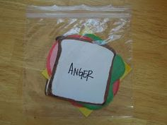 The anger sandwich ... visual aid to help children understand the emotions felt before anger.
