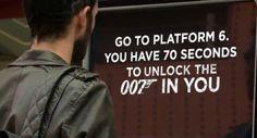 James Bond Guerilla Gewinnspiel: Unlock the 007 in you Guerilla Marketing, Internet Marketing, Marketing And Advertising, Coca Cola, James Bond, Transformers, Skyfall, Social Media Channels, Guerrilla