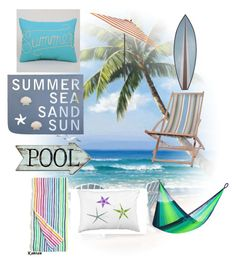 """""""Summer Decor"""" by happy-geek7 ❤ liked on Polyvore featuring interior, interiors, interior design, home, home decor, interior decorating, J.Crew, Yellow Leaf Hammocks, Garden Trading and Pier 1 Imports"""