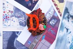 Leaves of Autumn Disney Brooch - Handmade  Disney Thanksgiving Brooch -Hand Painted Fall Pumpkin Brooch