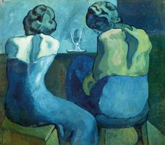 Picasso's two women sitting at a bar... those shades, that sinuous sensuality...