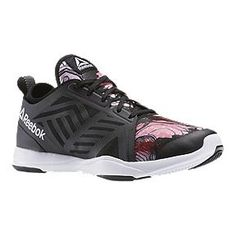 3d8c8d905aa Reebok Women s Cardio Inspire Low 2.0 Training Shoes - Black Pink Pattern  Gym Training