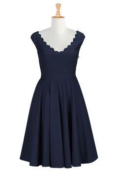 Womens Full sleeve Dresses - Cocktail Dresses, Plus Size Cocktail Dresses, Elegant Dresses | eShakti.com