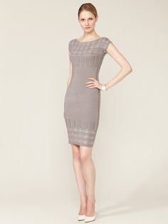 Ribbed Plaid Knit Dress by Narciso Rodriguez on Gilt.com