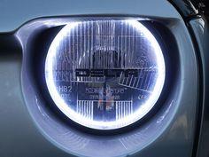 """Delta Tech 7"""" Round Quad Bar Xenon Halo Headlight Kit   Jeep Parts and Accessories   Quadratec"""