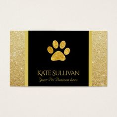 42 best pet business cards images on pinterest in 2018 business golden pet paw print black business cardbusiness colourmoves