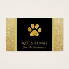 golden pet paw print