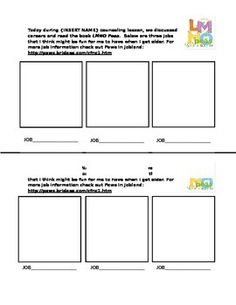 """LMNO Peas Fingerprint Activity: After reading and discussing LMNO Peas with students, use this worksheet to allow students to put a green fingerprint """"pea"""" in each of the 3 boxes showing the """"pea"""" doing a different job/career that they might be interested in one day. I hope your students will be as silly and creative as mine were!  Enjoy!"""