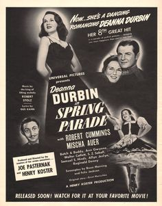 1940 Movie Spring Parade with Deanna Durbin and Robert by Vividiom, $8.00