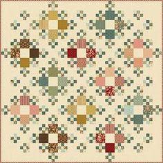 """This beautiful quilt finishes at 102"""" x 102"""". Kit includes all fabric for top and binding."""