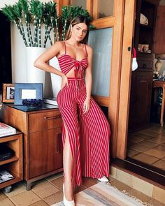 Zweiteiler Co Ord Set / Sommermode / . Summer Fashion Outfits, Spring Summer Fashion, Spring Outfits, Trendy Outfits, Cute Outfits, Fashion Clothes, Style Summer, Fashion Dresses, Summer Set