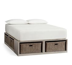 Platform Bed With Storage, Bed Frame With Storage, Platform Beds, Queen Beds With Storage, Diy Beds With Storage, Queen Platform Bed Frame, Platform Bed Plans, Twin Storage Bed, Bed Frame With Drawers