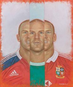 Paul O'Connell painting - professionally scanned so you can see the true colours of the painting. Prints available