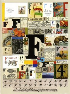 The Letter F Silkscreen Print by Sir Peter Blake