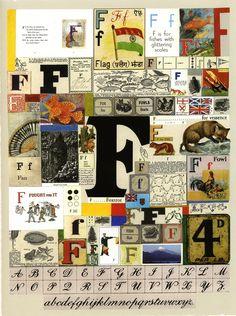 The Letter F Silkscreen Print by Sir Peter Blake