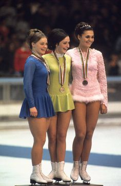 """Peggy Fleming wins Olympic Gold, 1968  (Doing """"figures"""" was part of the competition then.)"""