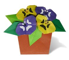 Origami Pansy