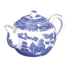 Blue Wilow Teapot, 4 Cup