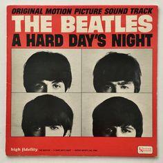 The Beatles - A Hard Day's Night Soundtrack LP Vinyl Record Album, United Artists Records - UAS 6366, 1964, Original Pressing