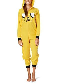 image of Adventure Time Jake Hooded Fleece Onesie