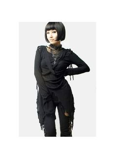 Punk Rave Perfect Disorder Top - Size: S T-196 The Perfect Disorder Top by is a unique long sleeved top by Punk Rave. It has a wide mesh panel on the neck, multiple straps on the front and corset lacing panels on the shoulders. The pointed and lig http://www.MightGet.com/february-2017-3/punk-rave-perfect-disorder-top--size-s-t-196.asp