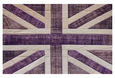 Love the unpredictability of this rug.  Purple & Union Jack.  $3999
