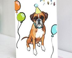 Black Cockapoo 'Pup Party' Birthday Card | Etsy Brindle French Bulldog, French Bulldog Blue, Old English Bulldog, Golden Retriever Labrador, Black Labrador, Canvas Wall Collage, Black Cockapoo, Corgi Dachshund, White Pug